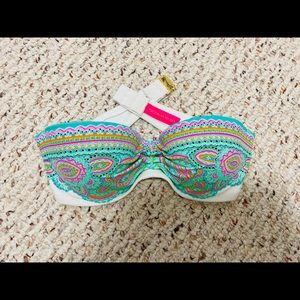 Victoria Secret Strapless Bikini Top Size 32A